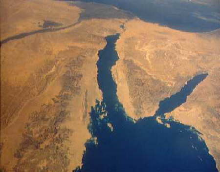 Maps of Egypt - red sea