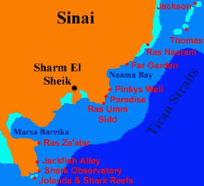 Maps of Egypt - sharm map