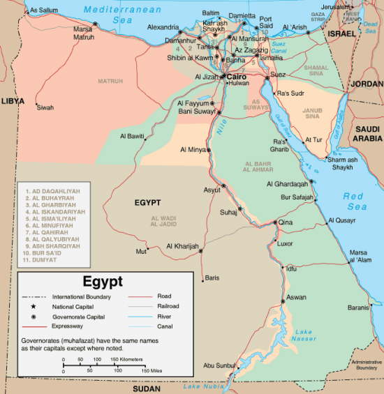 Maps Of Egypt - Map of egypt picture