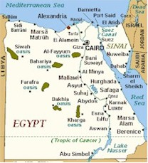 Hurghada - Map of egypt with cities